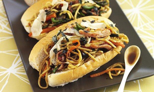 Helen Graves's fried-noodle sandwich – aka yakisoba pan.